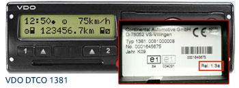 VDO DTCO 1381 Digitale Tachograaf versie